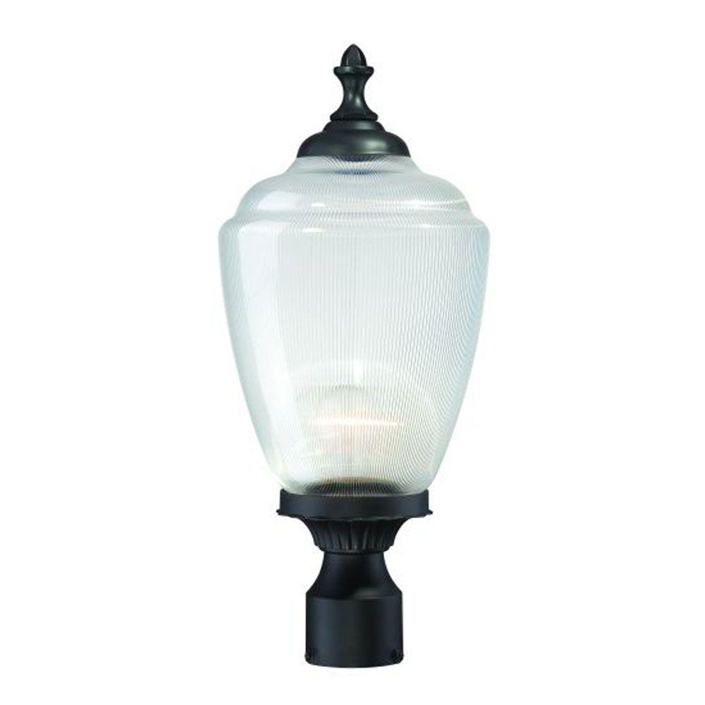 Acclaim Lighting Acorn 1-Light Matte Black Outdoor Post-Mount Fixture
