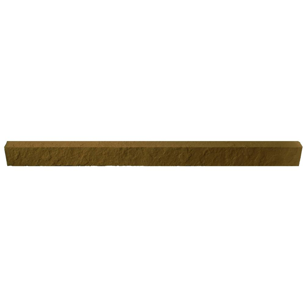 Sandstone Brown 48 in. x 3.5 in. Faux Stone Siding Window