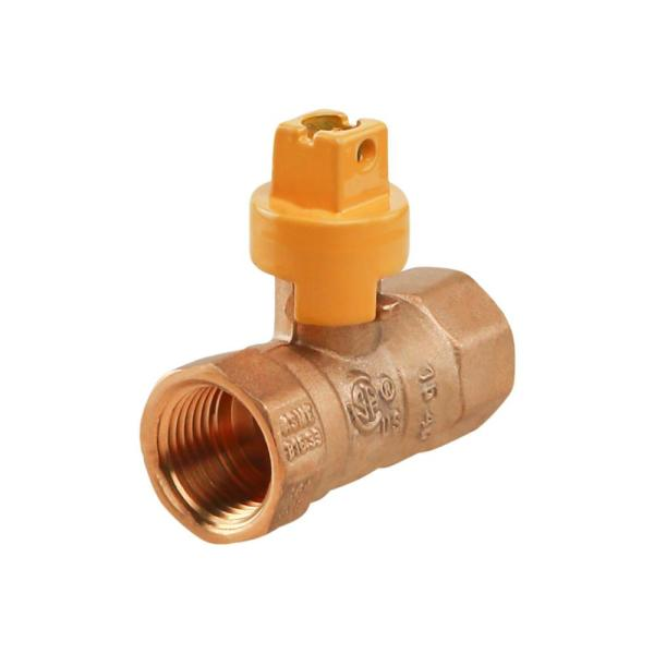 1/2 in. Brass FIP Gas Ball Valve with Screwdriver Slotted Handle