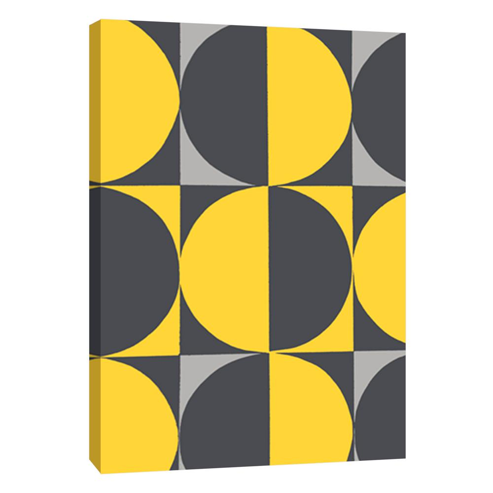 PTM Images 12.in x 10.in \'\'Monochrome Patterns 5 in Yellow\'\' Printed ...