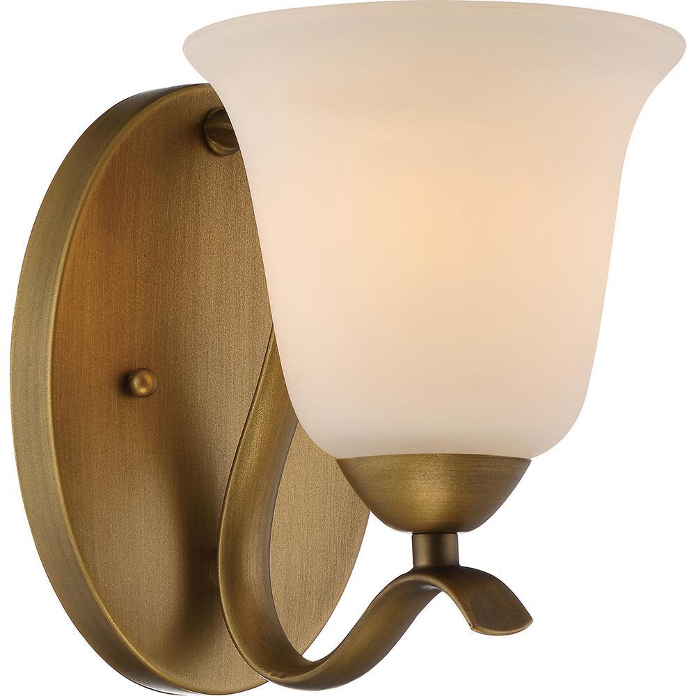 1-Light Natural Brass Bath Light
