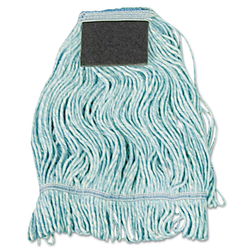 Medium Cotton Loop-End Mop Head with Scrub Pad (12-Carton)