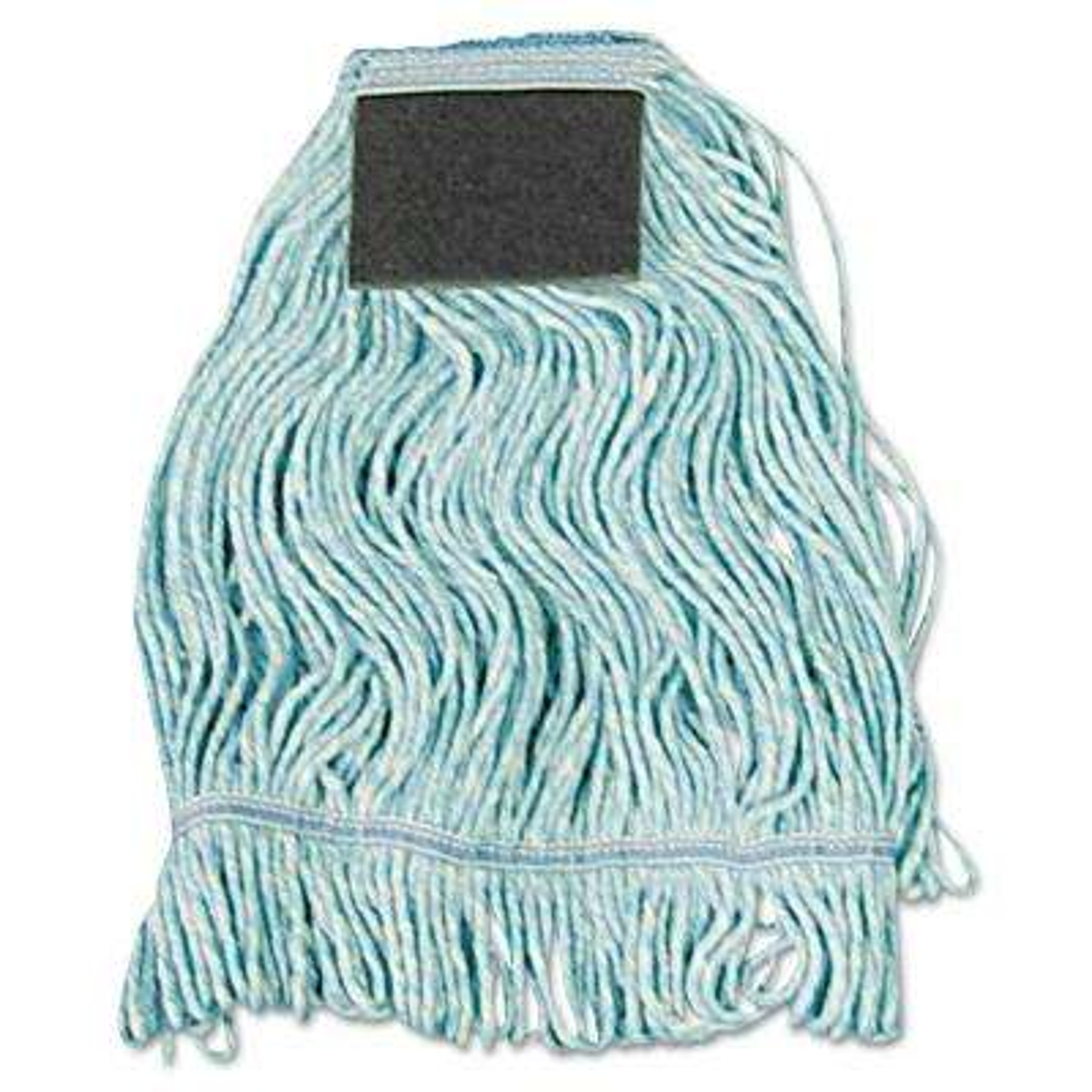 Medium Cotton Loop-End Mop Head with Scrub Pad (12-Carton)