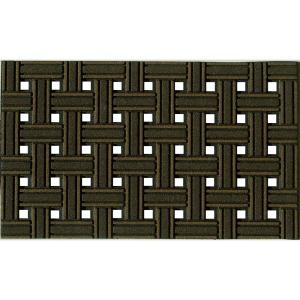 Apache Mills Weave Brown 18 inch x 30 inch Recycled Rubber Door Mat by Apache Mills