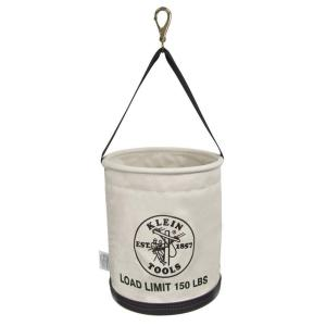 Canvas Bucket, All-Purpose with Swivel Snap and Drain Holes, 12-Inch