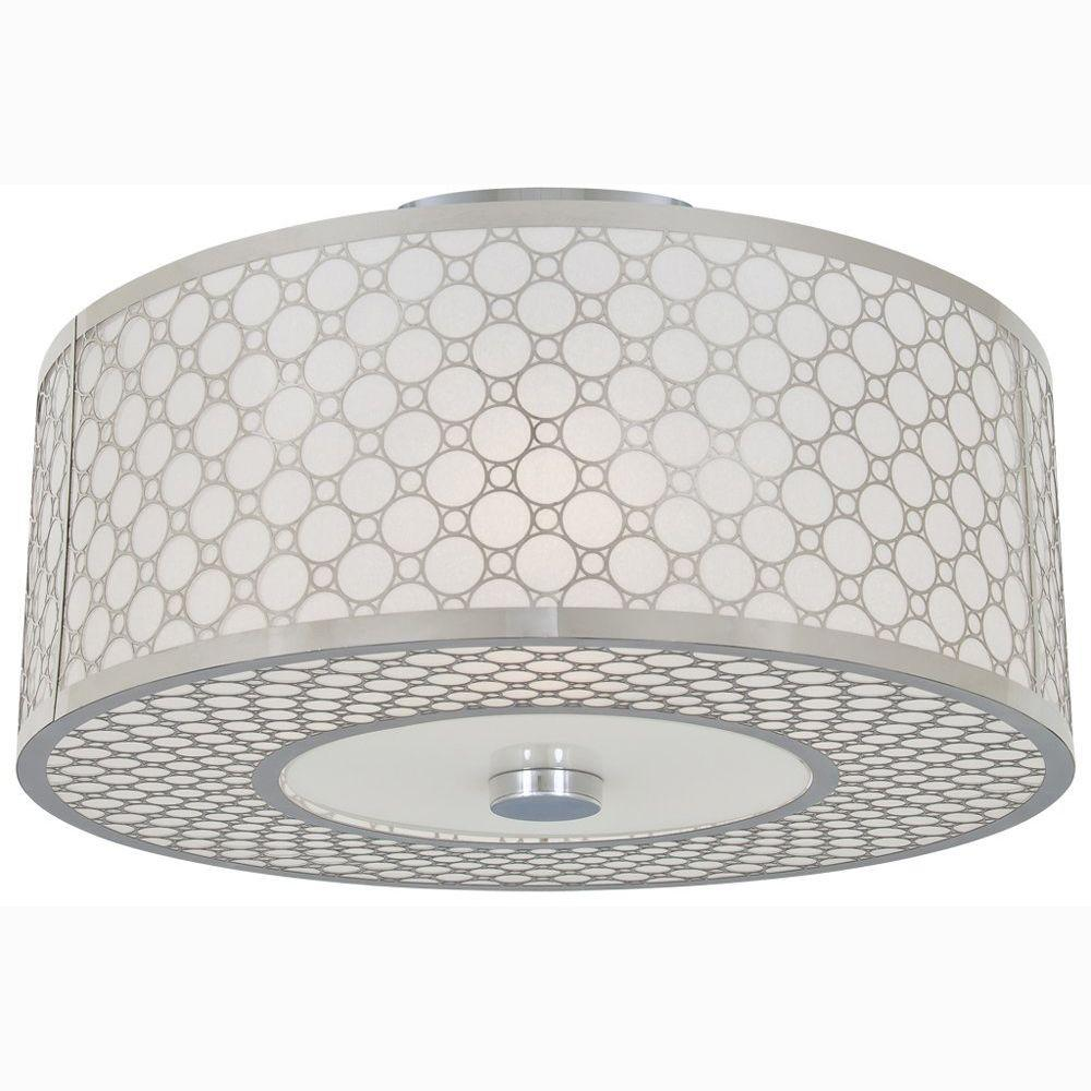 Filament Design Celestial 2-Light Chrome Incandescent Semi Flush Mount
