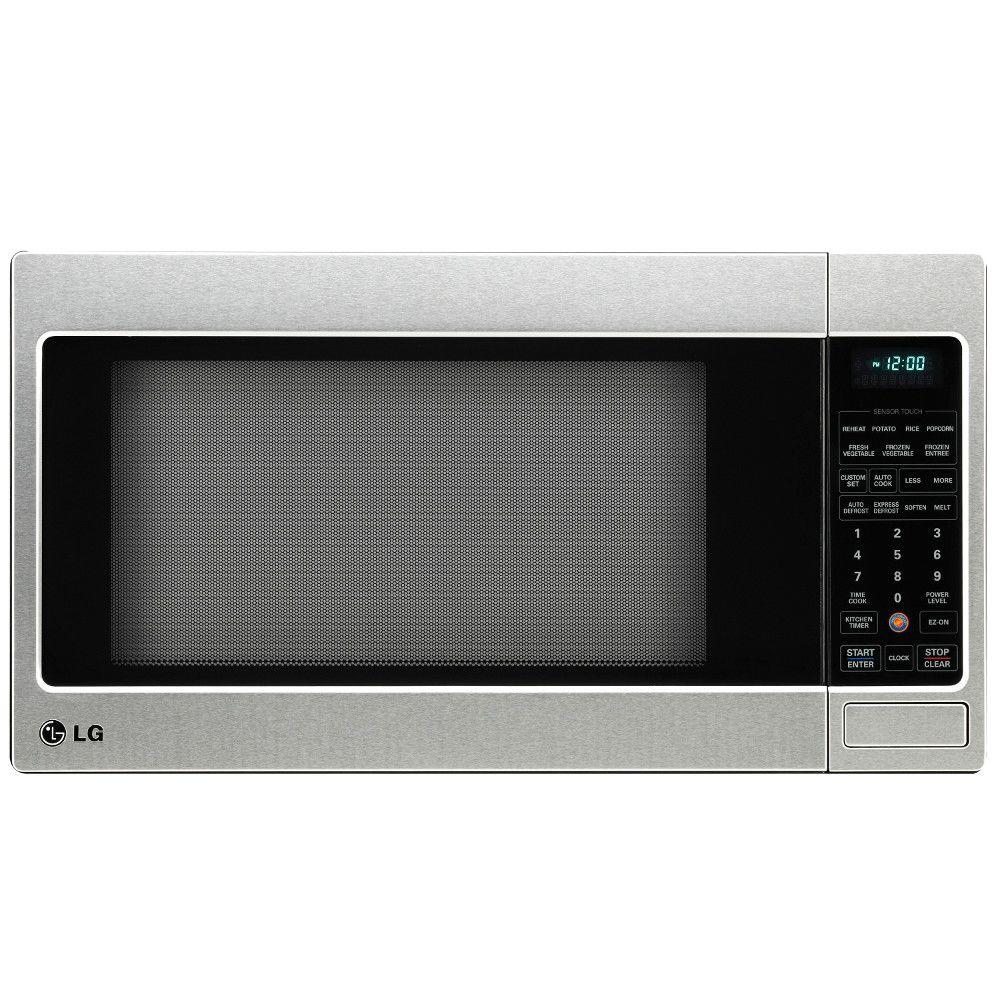 Countertop Microwave In Stainless Steel Built