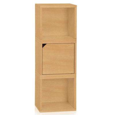 Connect System 13.4 in. W x 37.8 in. H zBoard Paperboard Modular Eco Stackable 3-Cube Cubby Organizer in Natural