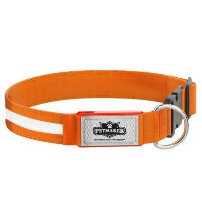 Medium Orange LED Dog Collar