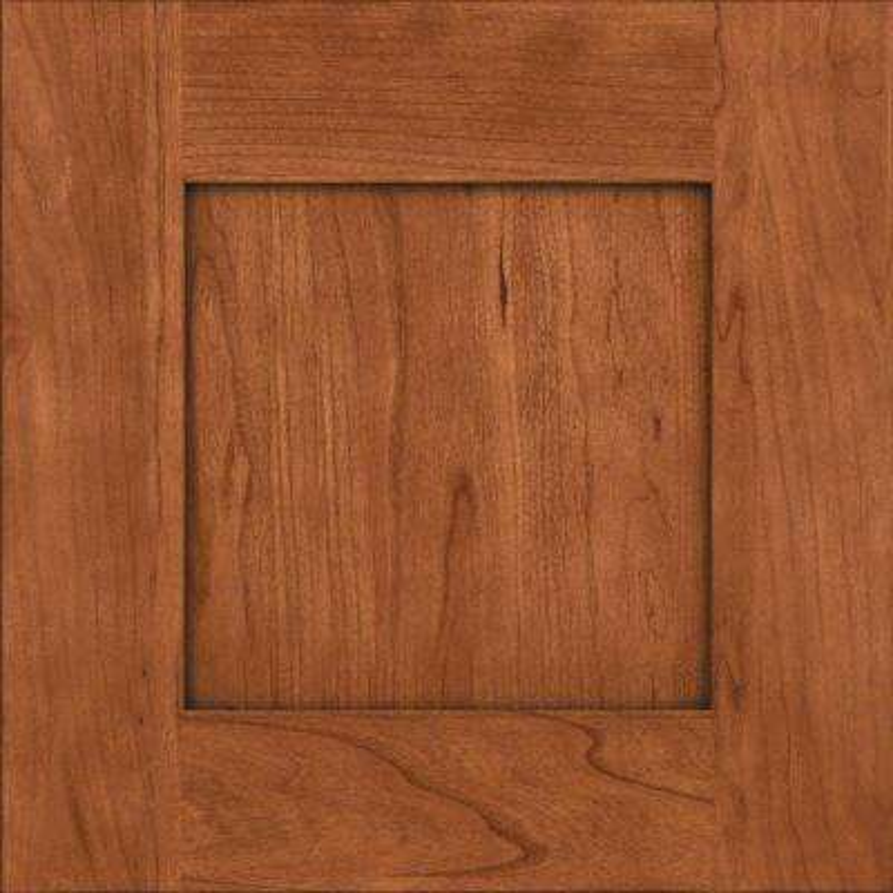 15x15 in. Cabinet Door Sample in Hayward Cherry with Cinnamon