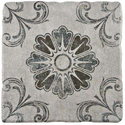 Costa Cendra Decor Fleur 7-3/4 in. x 7-3/4 in. Ceramic Floor and Wall Tile (11.5 sq. ft. / case)