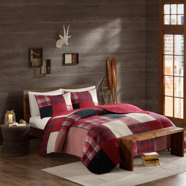 Sunset 3-Piece Red King/Cal King Coverlet Mini Set