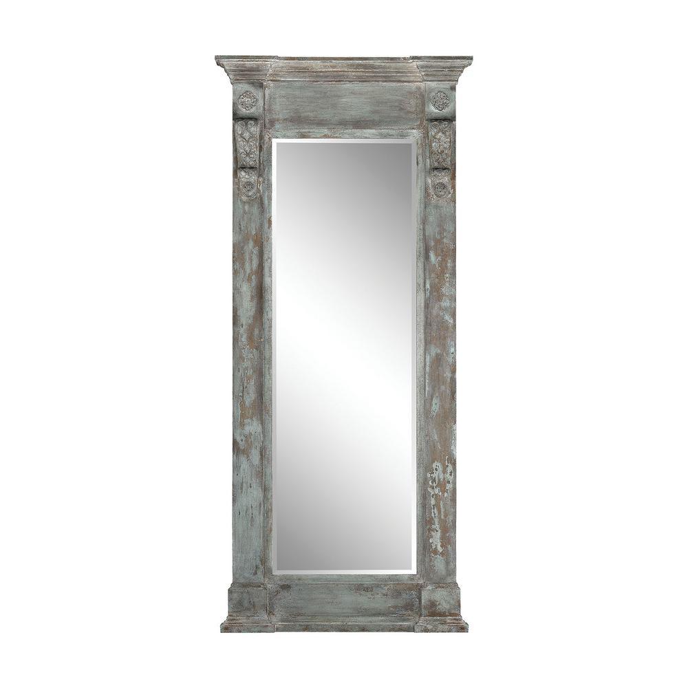 Neo-Classical 93 in. x 41 in. Column Framed Floor Mirror
