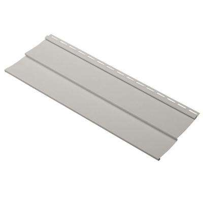 Progressions Double 4 in. x 24 in. Vinyl Siding Sample in Pewter