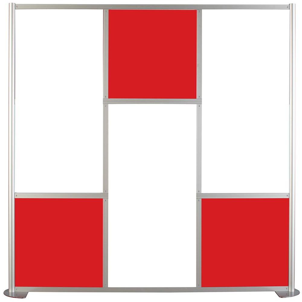 75-5/8 in. x 75-3/8 in. uDivide White and Red 6-Panel Room