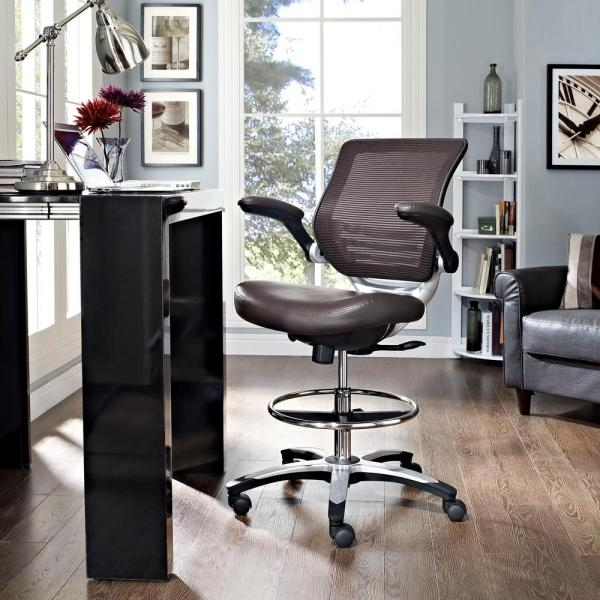 MODWAY Edge Drafting Stool in Brown