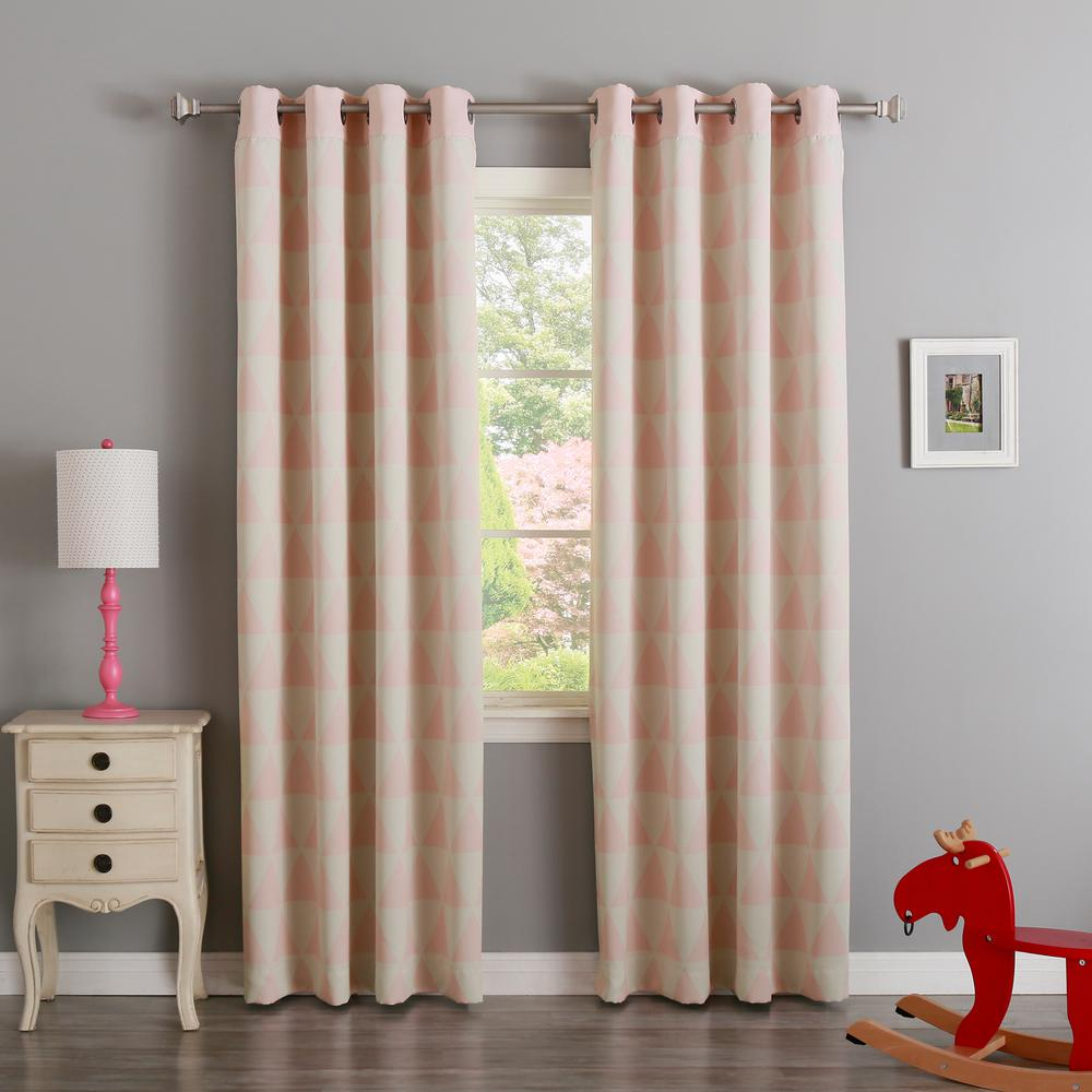 Best Home Fashion Baby Pink 84 In L Triangle Room Darkening Curtain 2