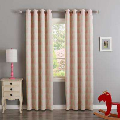 Baby Pink 84 in. L Triangle Room Darkening Curtain (2-Pack)