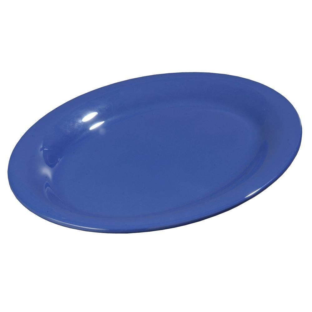 9 in. x 12 in. Melamine Oval Platter in Ocean Blue