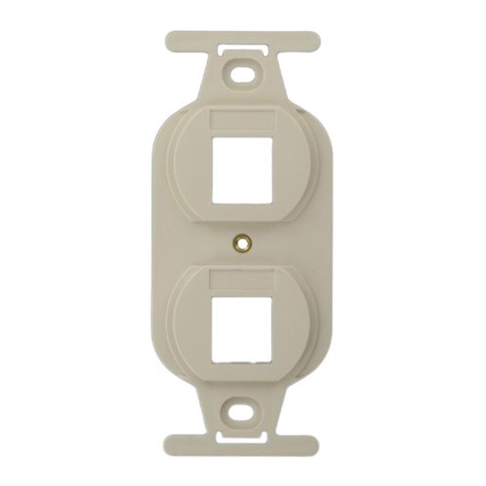 QuickPort Standard Size Type 106 2-Port Insert in Light Almond