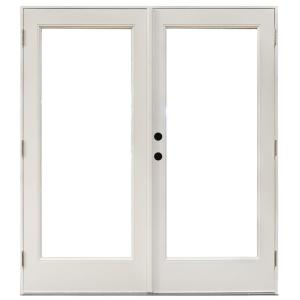 Mp doors 60 in x 80 in fiberglass smooth white right for Interior swinging doors home depot