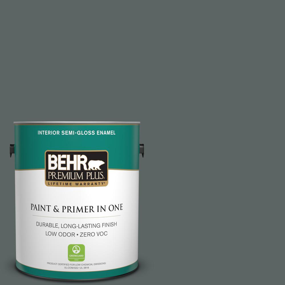 BEHR Premium Plus Home Decorators Collection 1-gal. #HDC-MD-28 Cordite Zero VOC Semi-Gloss Enamel Interior Paint