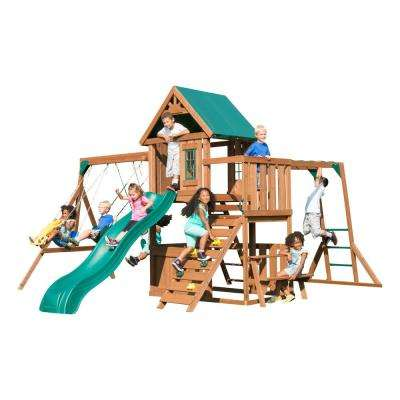 Knightsbridge Plus Wood Complete Playset with Monkey Bars