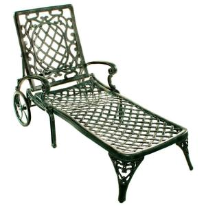 Oakland living mississippi patio chaise lounge 2108 vgy for Chaise longue jardin brico depot