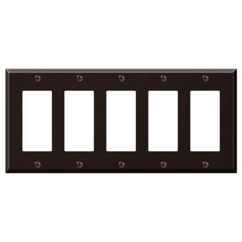 Creative Accents Steel 5 Decora Wall Plate - Antique Bronze
