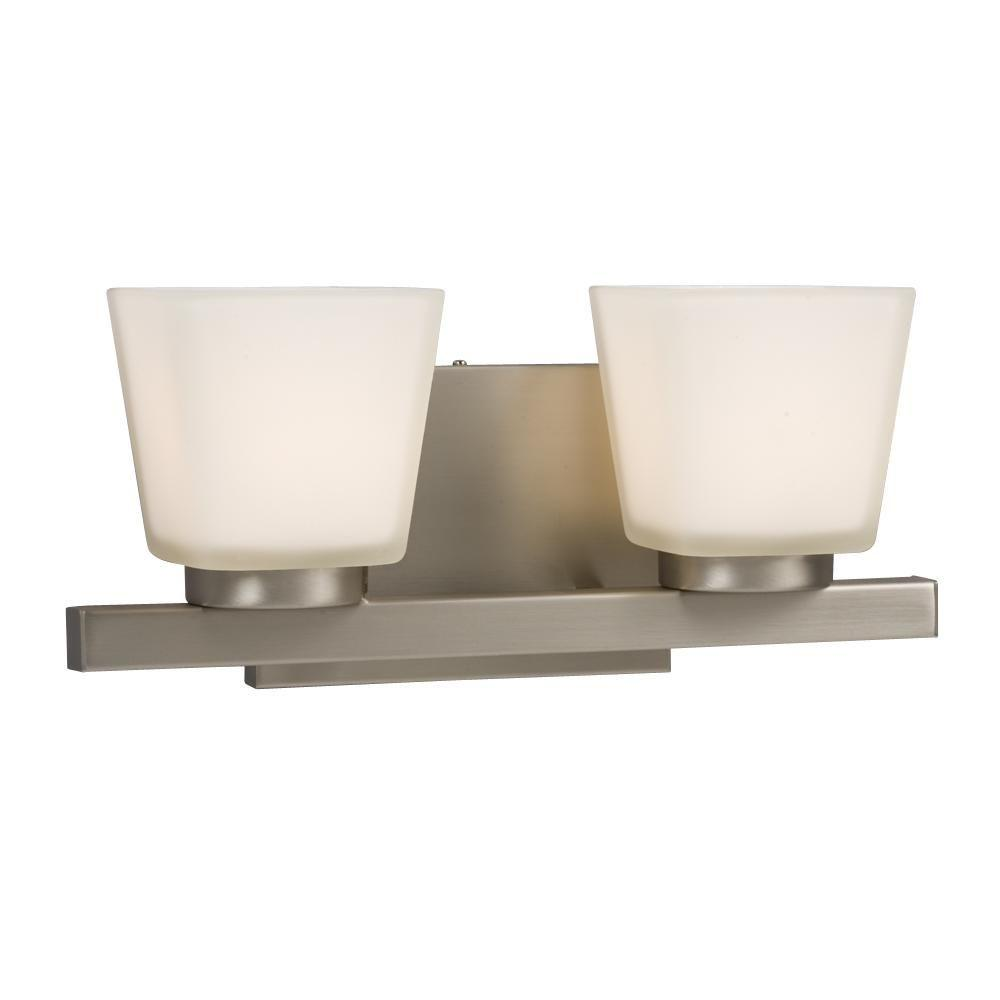Bathroom Vanity Halogen Lights : Filament Design Negron 2-Light Pewter Halogen Bath Vanity Light-CLI-XY5193293 - The Home Depot
