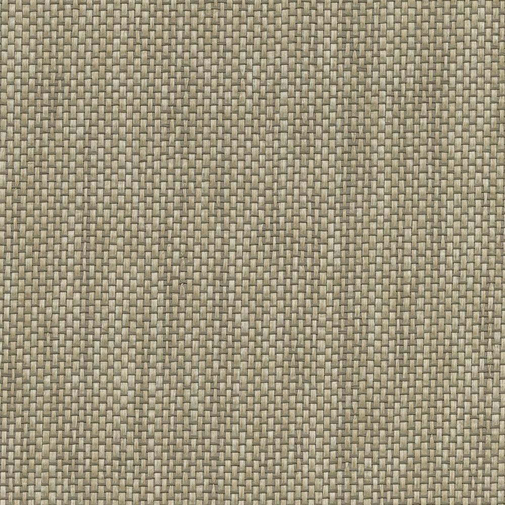 8 in. x 10 in. Gaoyou Khaki Paper Weave Wallpaper Sample