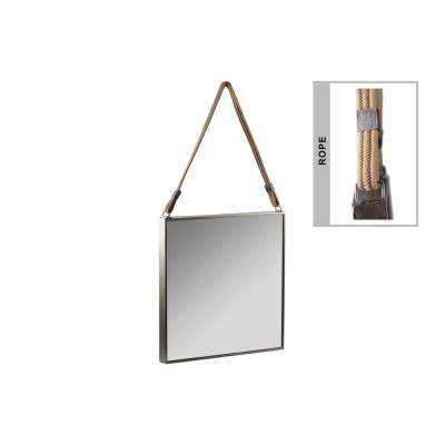 Square Champagne Tarnished Mirror