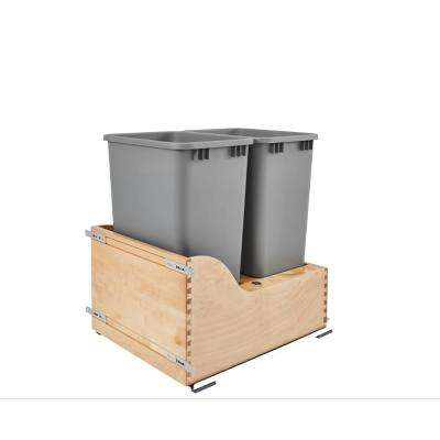 50 Qt. Servo Dbl Pullout Waste Container