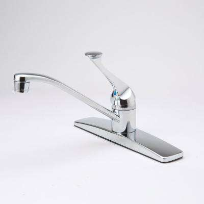 Single Handle Standard Kitchen Faucet in Chrome