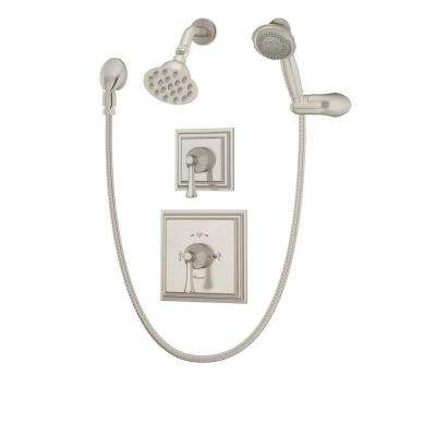 Canterbury 1-Handle Tub and Shower Faucet Trim Kit in Satin Nickel (Valve Not Included)