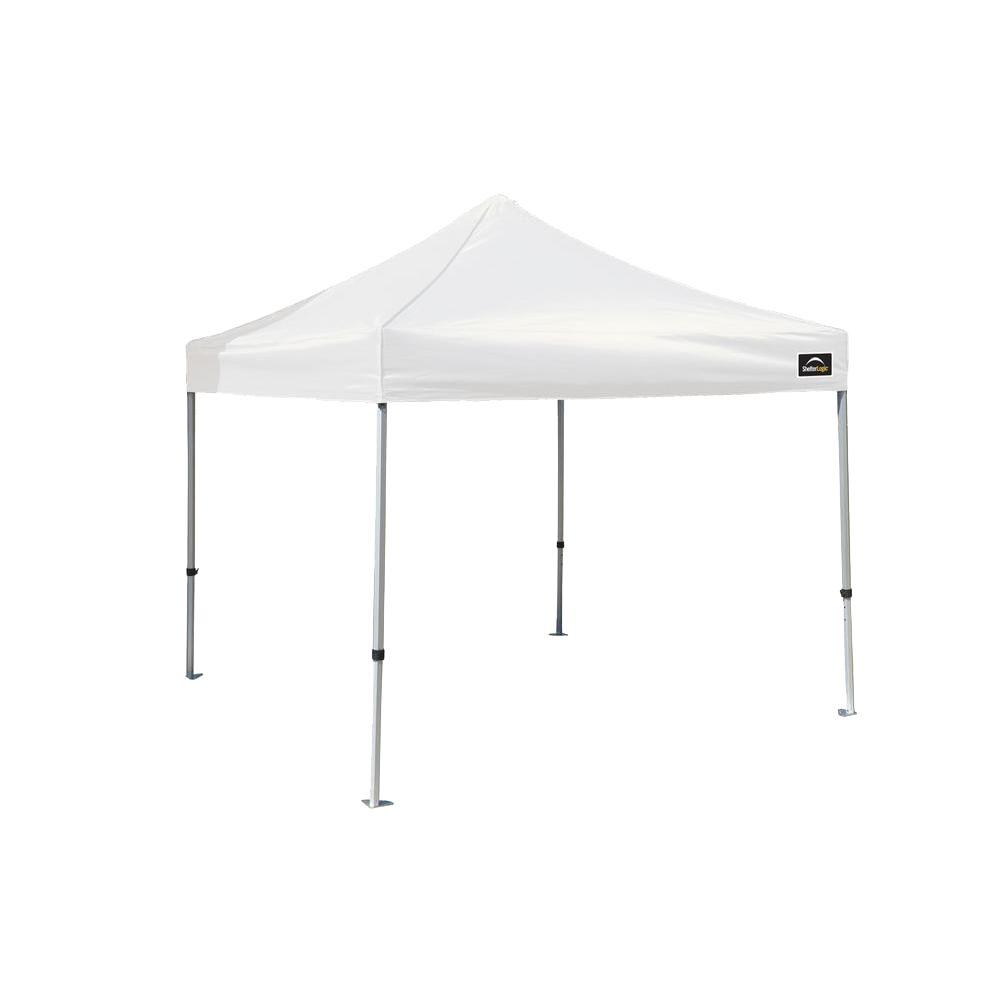 10 ft. x 10 ft. White Cover Commercial Alumi-Max Pop-up Canopy