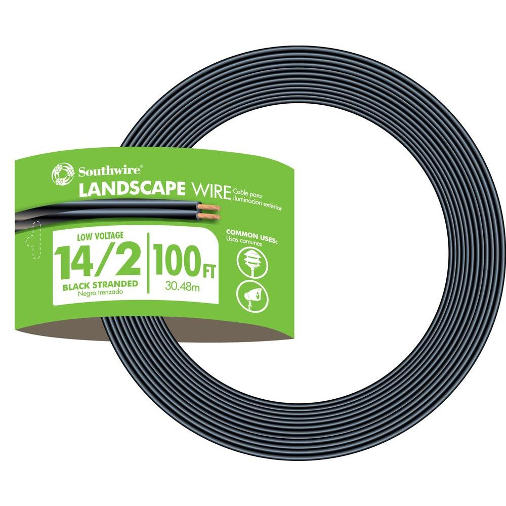 Landscape lighting wire wire the home depot 142 black stranded cu low voltage landscape lighting wire keyboard keysfo Choice Image