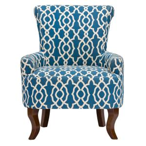 Baxton Studio Dixie Contemporary Blue Fabric Upholstered Accent Chair by Baxton Studio