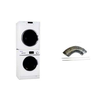 White Laundry Center with 1.6 cu. ft. Washer and 3.5 cu. ft. Electric Standard Dryer Including Inside Vent Kit