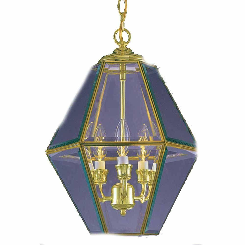 Hardwired brass lantern chandeliers lighting the home depot lenor 3 light polish brass chandelier aloadofball Image collections