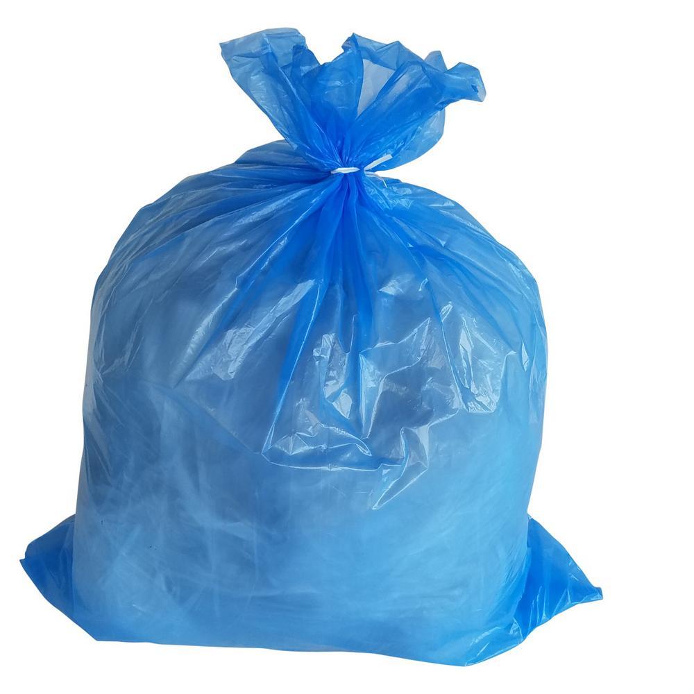 40 Gal. 1.5 mil 33 in. H x 46 in. W Blue Trash Bags (100-Bags per Case, 96-Cases per Pallet)