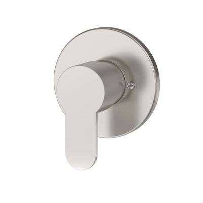 Identity Lever 1-Handle Wall-Mounted Diverter Trim Kit in Satin Nickel (Valve Included)