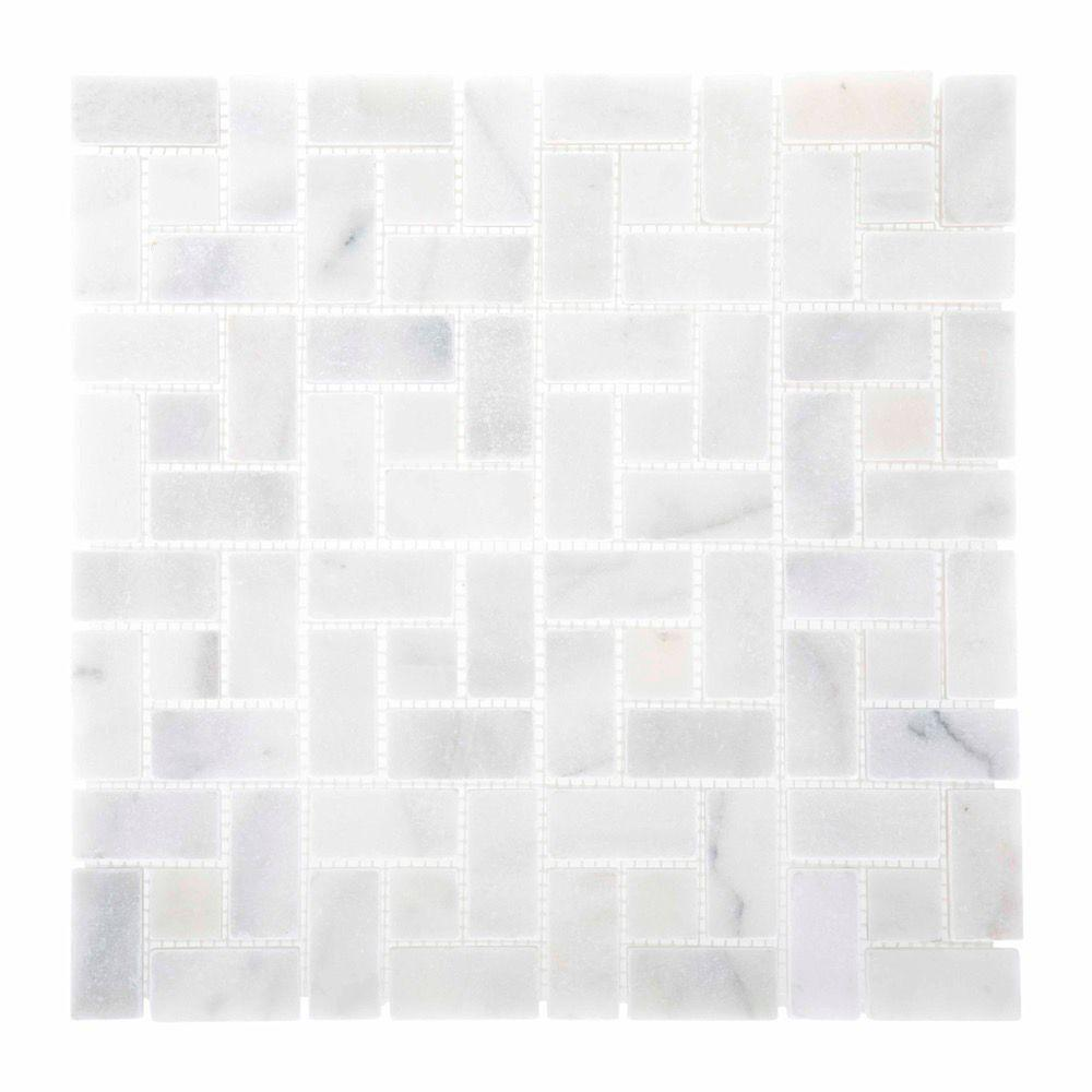 Jeffrey Court Ice Blocks 12 In X 10 Mm White Marble