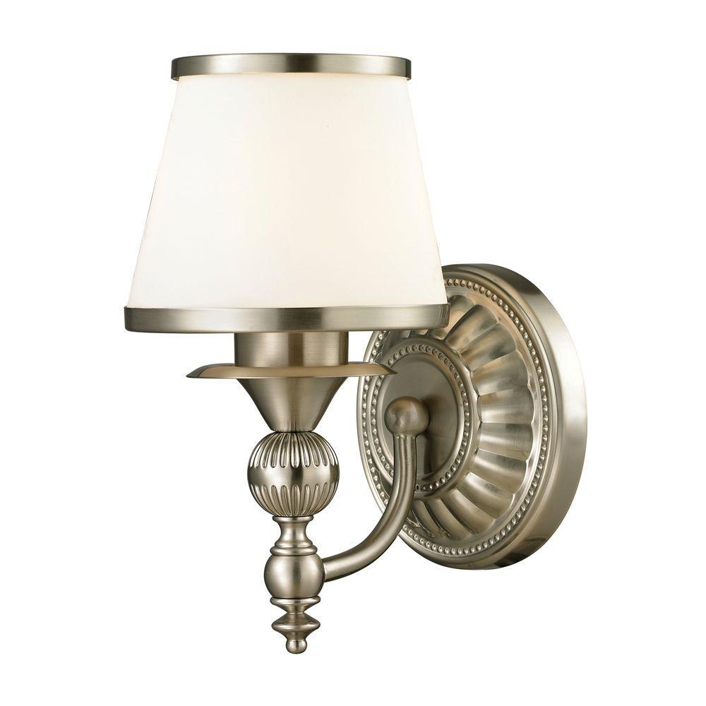 Cornhill 1-Light Brushed Nickel LED Bath Light