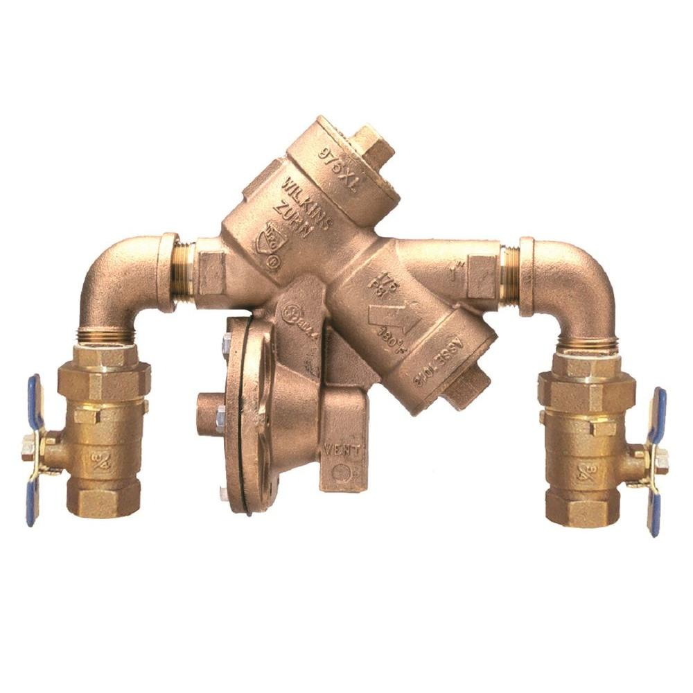 Zurn-Wilkins 2 in. Lead-Free Reduced Pressure Principle Assembly with Street Elbows and Union Ball Valves