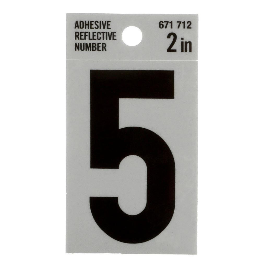 2 in. Vinyl Reflective Number 5