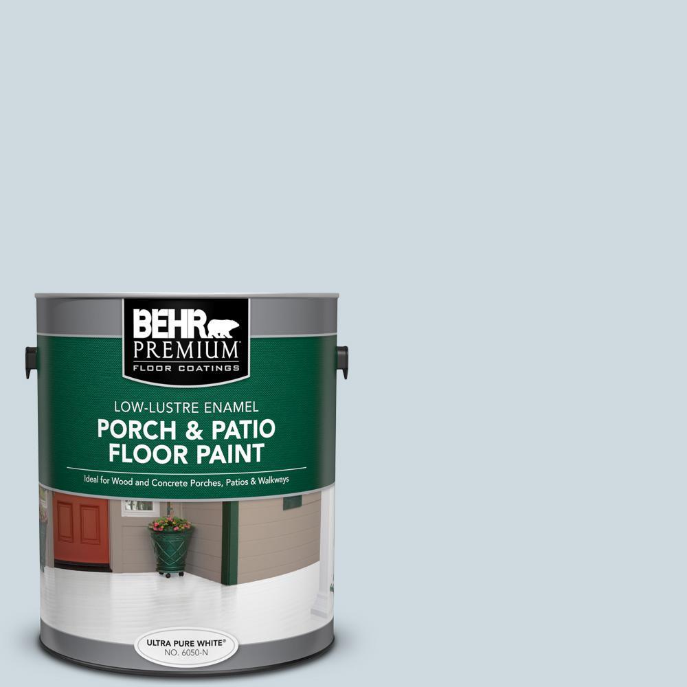 Behr Premium 1 Gal 560e 2 Cumberland Fog Low Lustre Enamel Interior Exterior Porch And Patio Floor Paint 605001 The Home Depot