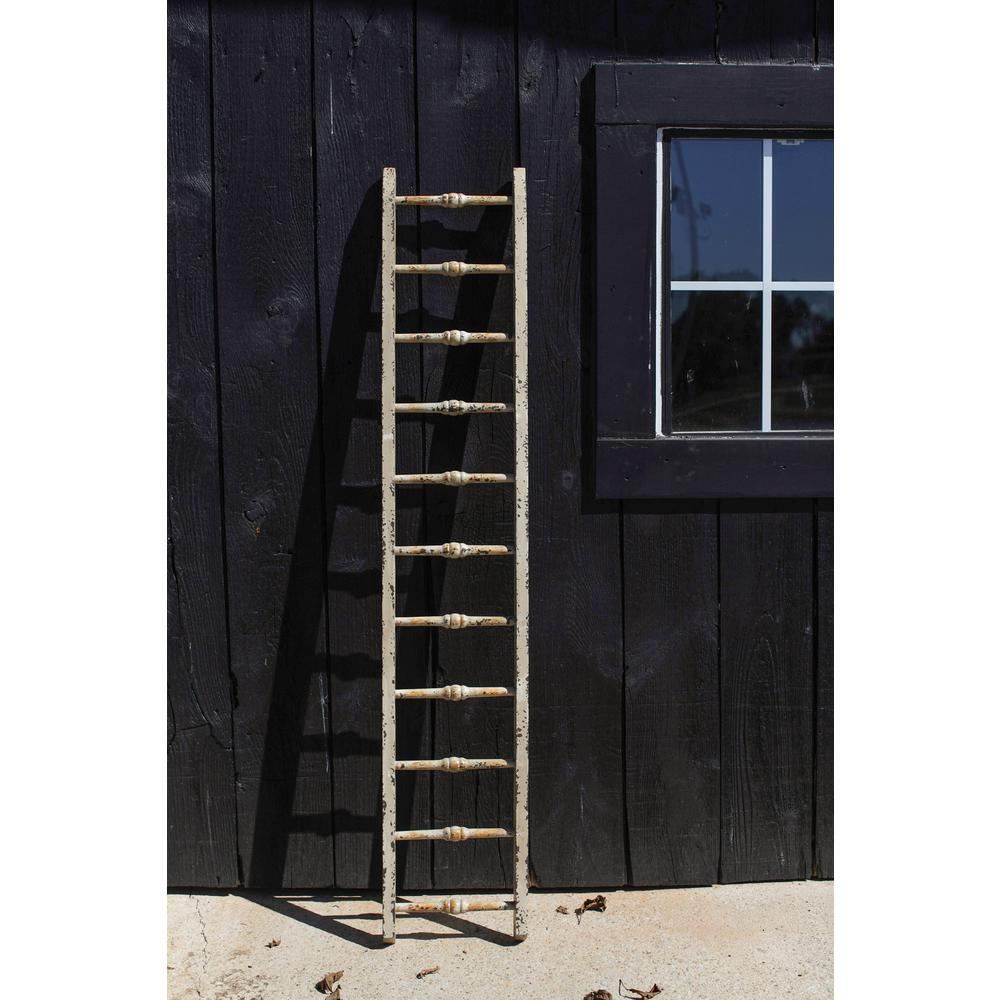 3r studios white wood decorative ladder de7576 the home for Decor ladder house