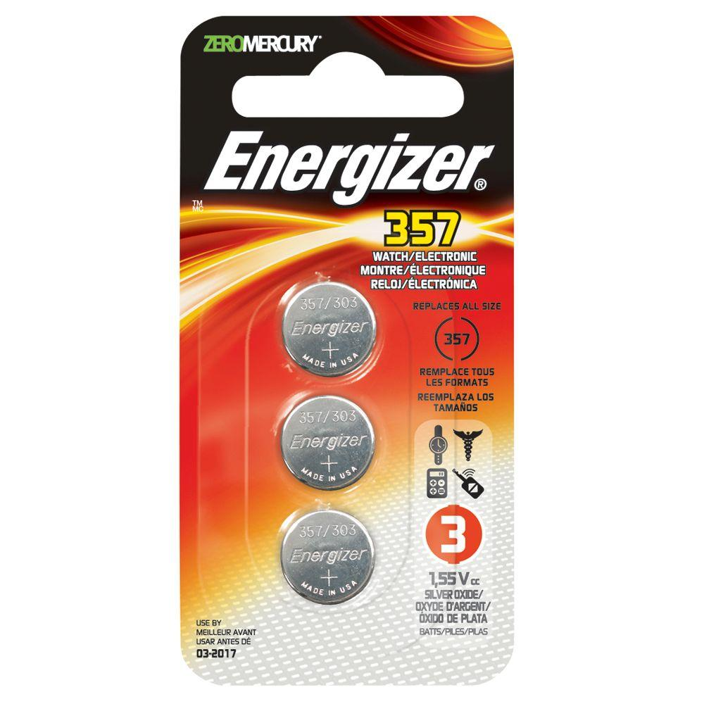 Energizer 357-3pk Watch/Electronic Battery