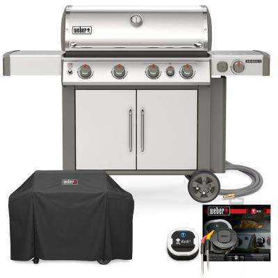 Genesis II S-435 Natural Gas Grill Combo with Cover and iGrill 3
